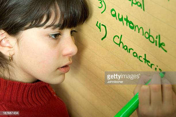 School Days - Spelling Words at the Flipchart