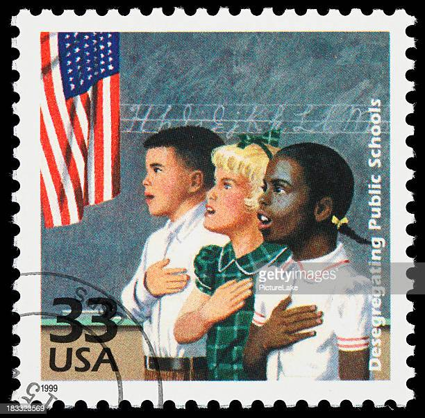 School desegregation postage stamp