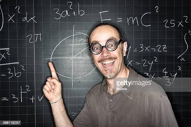 School education portraits: mad teacher