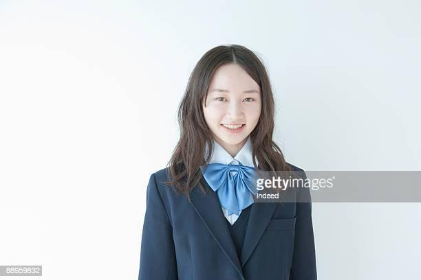 School girl smiling, portrait