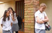 School girls bullying