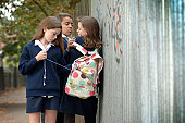 School girls (11-12) stealing mp3 player from another girl's (12-13) bag
