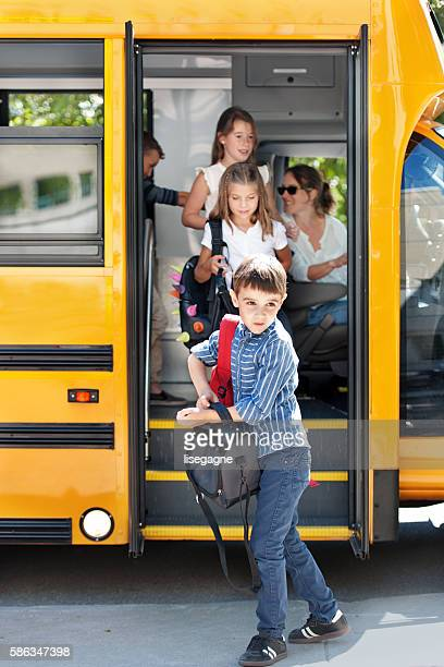 School kids going back to school