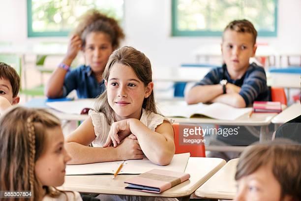 School kids in classroom