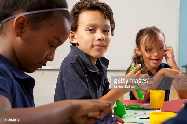 School Kids Making Art