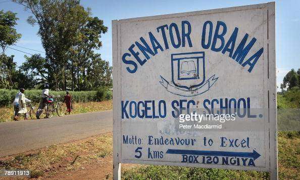 A school named after US Senator Barack Obama is signposted on the main road on January 12 2007 near the village of Kogelo western Kenya Barack...