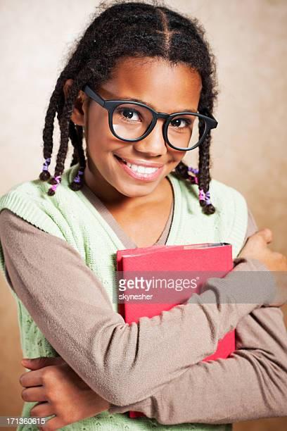 School nerd Mädchen.