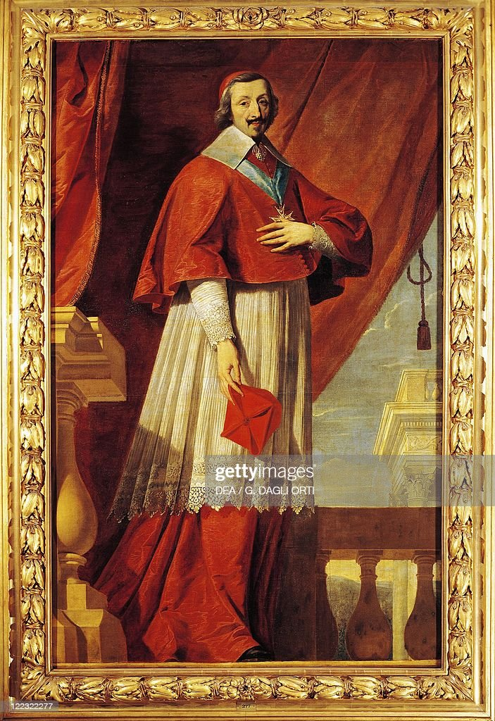 School of Philippe de Champaigne (1602-1674), Portrait of <a gi-track='captionPersonalityLinkClicked' href=/galleries/search?phrase=Cardinal+Richelieu&family=editorial&specificpeople=988311 ng-click='$event.stopPropagation()'>Cardinal Richelieu</a> (Armand-Jean du Plessis, Paris, 1585-1642), French statesman and clergyman.