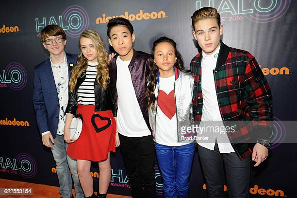 School of Rock kids Aidan Miner Jade Pettyjohn Lance Lim Breanna Yde and Ricardo Hurtado attend in the 2016 Nickelodeon HALO Awards at Basketball...