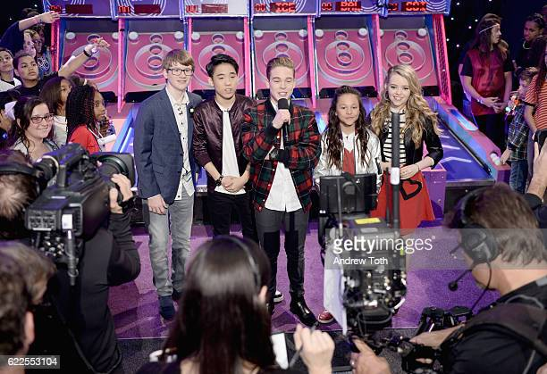School of Rock kids Aidan Miner Lance Lim Ricardo Hurtado Breanna Yde and Jade Pettyjohn participate in the 2016 Nickelodeon HALO Awards at...