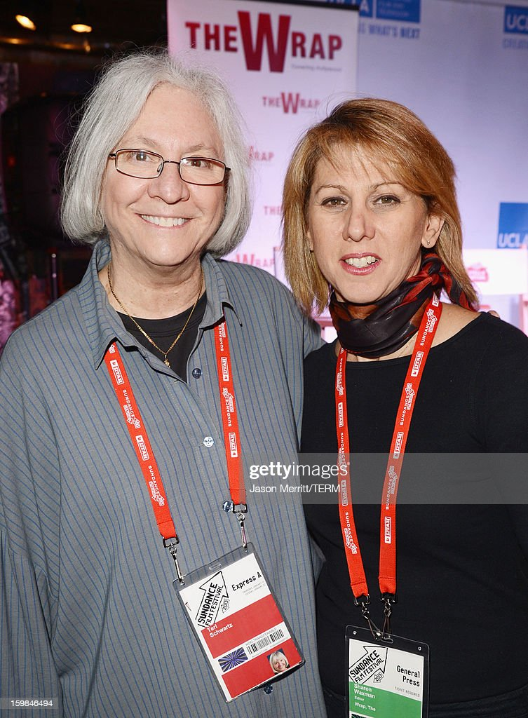 School of TFT Dean Teri Schwartz (L) and UCLA and The Wrap founder Sharon Waxman attend The Wrap Sundance 2013 Panel at The Claim Jumper on January 21, 2013 in Park City, Utah.