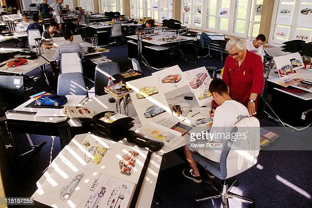 School of the Haute Couture for car Sbarro in Grandson Switzerland in August 1997 Teaching room