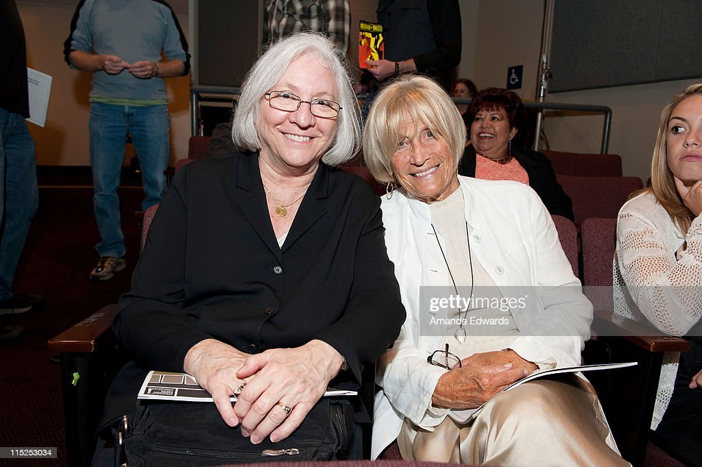 School of Theater, Film and Television Dean Teri Schwartz (L) and Film Chair Barbara Boyle attend the UCLA Animation Workshop Festival of Animation at the James Bridges Theater at Melnitz Hall on the UCLA campus on June 4, 2011 in Los Angeles, California.