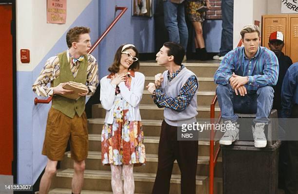 BELL 'School Song' Episode 24 Air Date Pictured Lara Lyon as Louise MarkPaul Gosselaar as Zack Morris Photo by Paul Drinkwater/NBCU Photo Bank