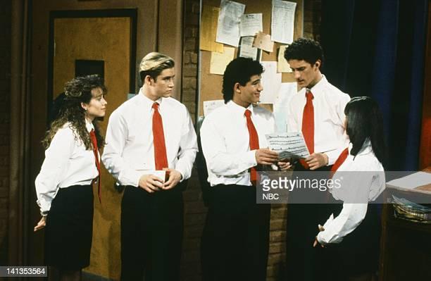 BELL 'School Song' Episode 24 Air Date Pictured Leanna Creel as Tori Scott MarkPaul Gosselaar as Zack Morris Mario Lopez as AC Slater Dustin Diamond...