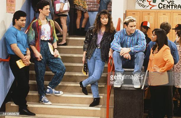 BELL 'School Song' Episode 24 Air Date Pictured Mario Lopez as AC Slater Dustin Diamond as Screech Powers Leanna Creel as Tori Scott MarkPaul...