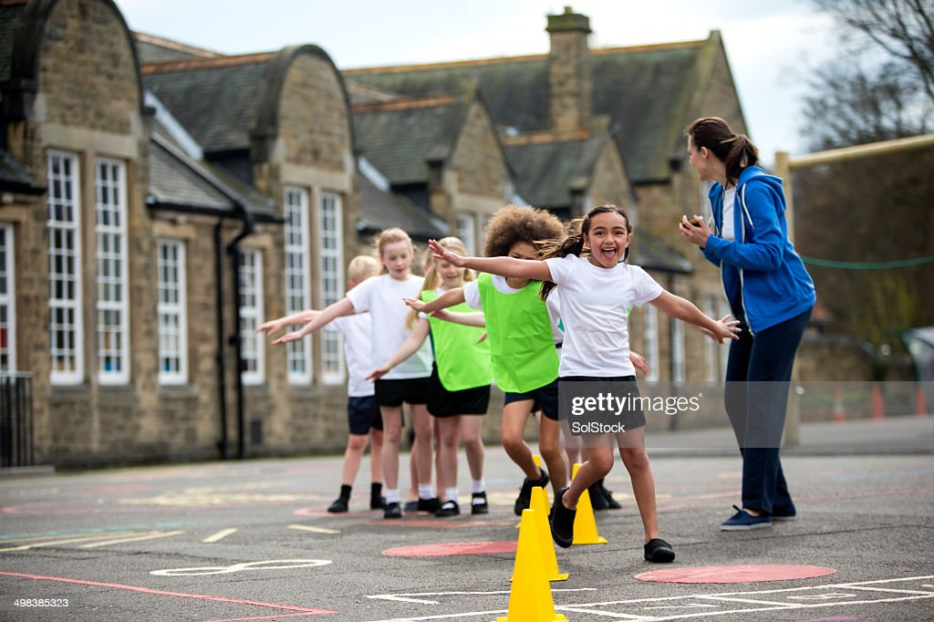 School Sports Lesson : Stock Photo