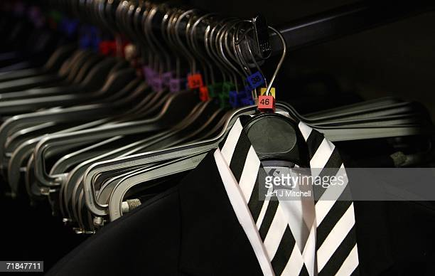 School uniforms on display at Edinburgh based Aitken Niven on September 11 2006 in Edinburgh ScotlandThe retailers of school uniforms have introduced...
