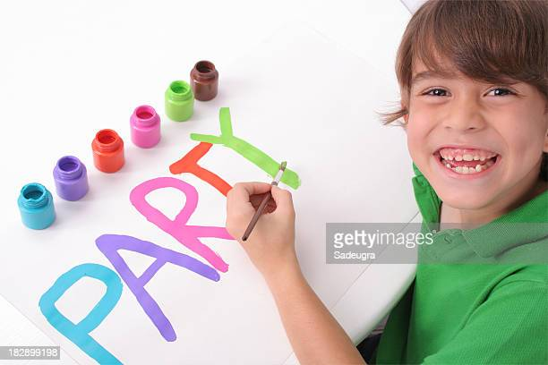 Schoolboy At The Art Class
