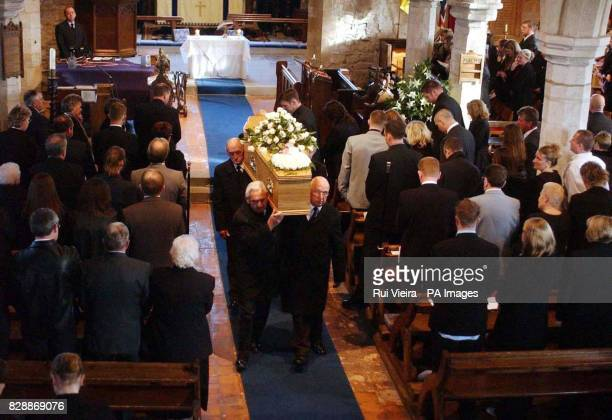 Schoolboy Luke Walmsley's coffin leaves St Mary's Church in North Somercotes after his funeral Luke was fatally stabbed at his school on November 4th