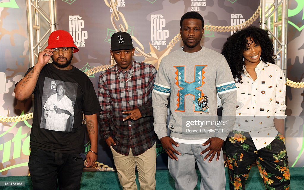 Schoolboy Q, Kendrick Lamar, Jay Rock and guest attend the BET Hip Hop Awards 2013 at Boisfeuillet Jones Atlanta Civic Center on September 28, 2013 in Atlanta, Georgia.