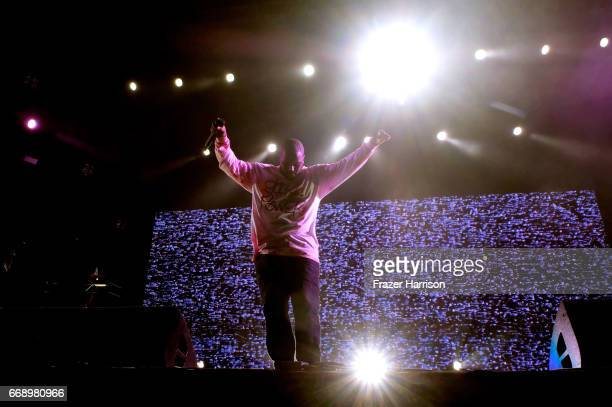 ScHoolboy Q performs at the Outdoor Stage during day 2 of the Coachella Valley Music And Arts Festival at the Empire Polo Club on April 15 2017 in...