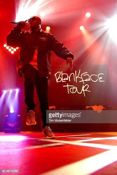 Schoolboy Q performs in support of his 'Blank Face LP' at the Fox Theater on October 13 2016 in Oakland California