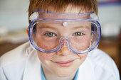 Schulkind-Nur Jungen (11. - 13.) tragen Brillen Lächeln, Porträt