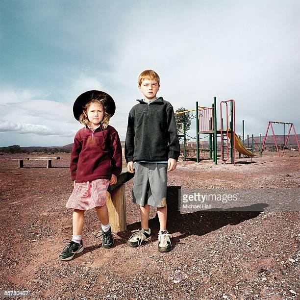 Schoolchildren  in playground