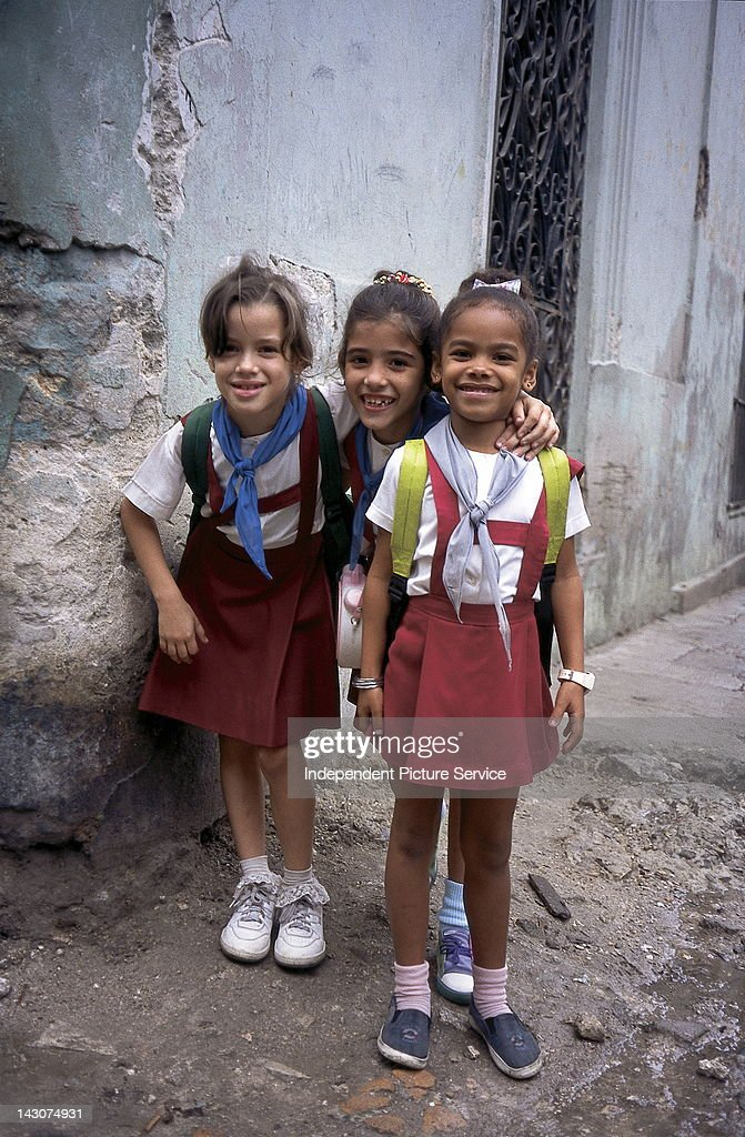Schoolchildren in their school uniforms, Cuba.