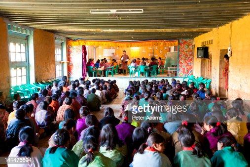 Schoolchildren, Ura Village, Bumthang, Bhutan