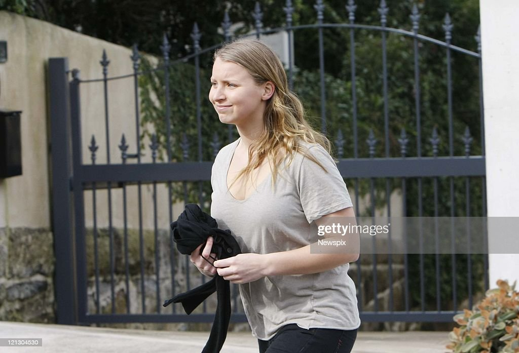Schoolgirl <a gi-track='captionPersonalityLinkClicked' href=/galleries/search?phrase=Madeleine+Pulver&family=editorial&specificpeople=8015075 ng-click='$event.stopPropagation()'>Madeleine Pulver</a> outside her home on August 13, 2011 in Sydney, Australia. A man broke into her Sydney home on August 3 and attached what was believed to be a live bomb to her neck in what was suspected to be an extortion attempt. The bomb was confirmed as a fake, but around 10 hours after the intruder struck. A man has been detained in the United States on suspicion of being the attacker.