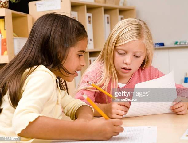 Schoolgirls Schreiben