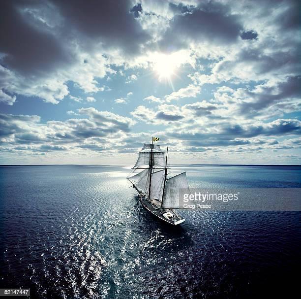 Schooner Sailing in the Chesapeake Bay