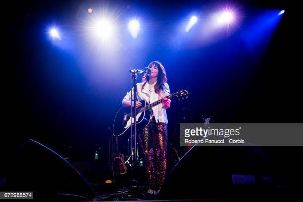 Schottish singer Kt Tunstall performs in concert at Auditorium of Conciliazione on April 23 2017 in Rome Italy