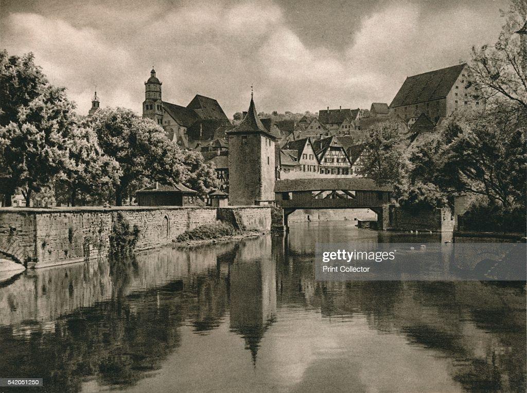 SchwabischHall' 1931 From Deutschland by Kurt Hielscher [F A Brockhaus Leipzig 1931] Artist Kurt Hielscher