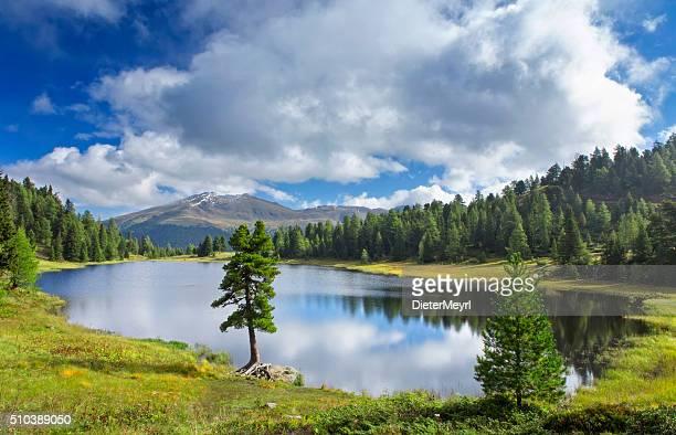 Schwarzsee beautiful alpin lake in Austrian Alps