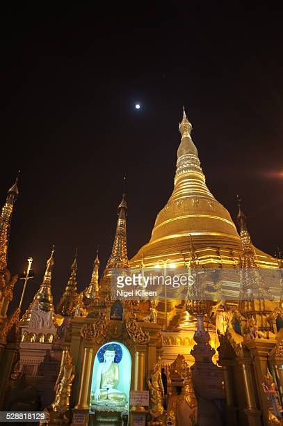 Schwedagon Pagoda at night