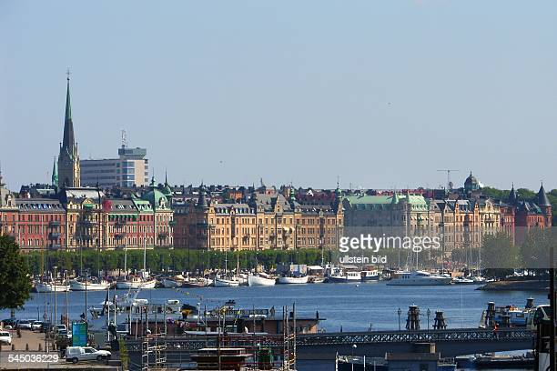 Schweden Stockholm Blick auf den Strandvägen