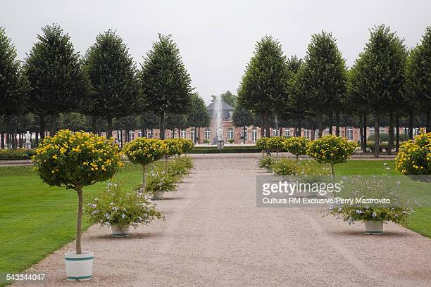Schwetzingen palace garden in late summer, Schwetzingen, Germany