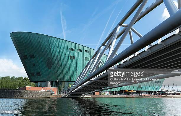 NEMO Science Centre and footbridge, Amsterdam, Netherlands
