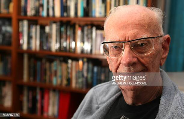 Science fiction writer scientist inventor and author Arthur C Clarke at his home in Colombo Clarke wrote the book and the screenplay for '2001 A...