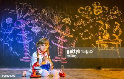 Scientific play to little chemist