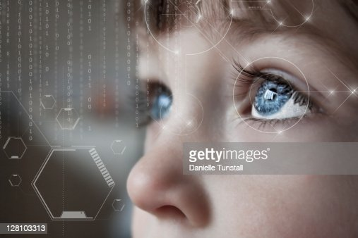 Scientific portrait of boy  Stock Photo