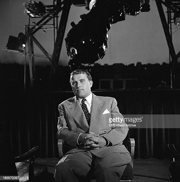 Scientist and rocket developer Werner Von Braun on THE TWENTIETH CENTURY Episode 'Guided Missile' Image dated May 25 1957