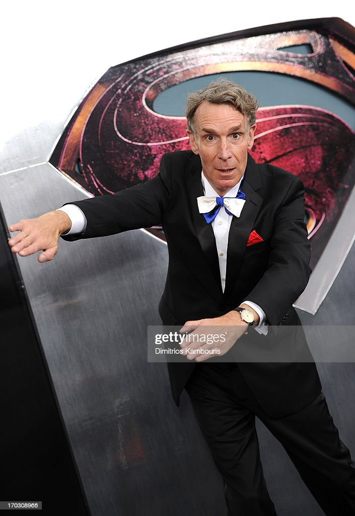 Scientist Bill Nye attends the 'Man Of Steel' world premiere at Alice Tully Hall at Lincoln Center on June 10, 2013 in New York City.
