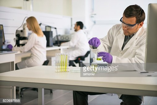 Scientist Doing A Lab Research