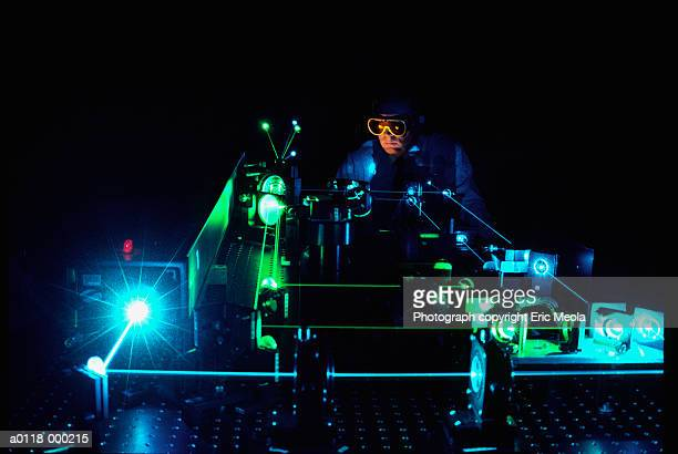 Scientist Doing Laser Research