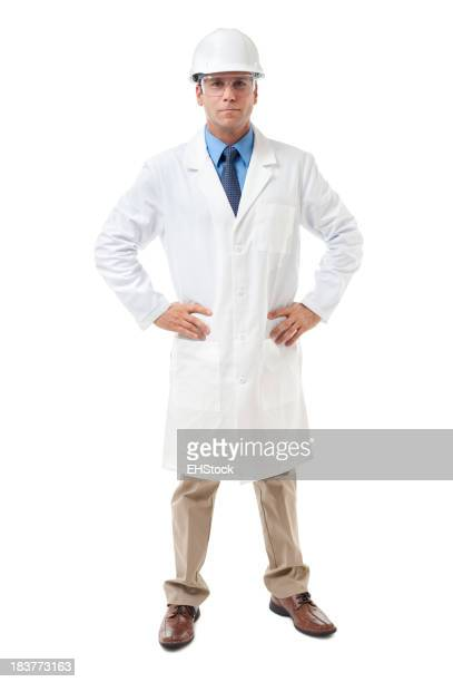 Scientist Engineer Isolated on White Background