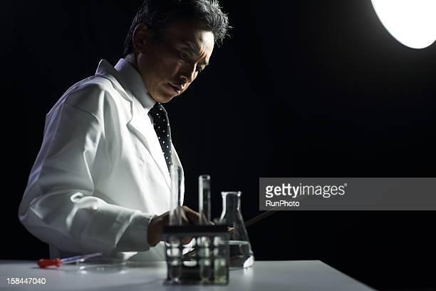 Scientist experimenting